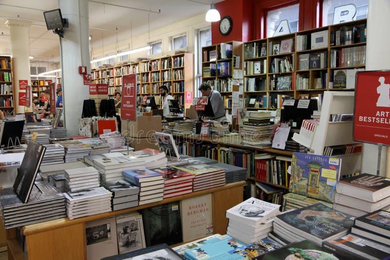 Berühmte Manhattan-Buchhandlung stockbilder