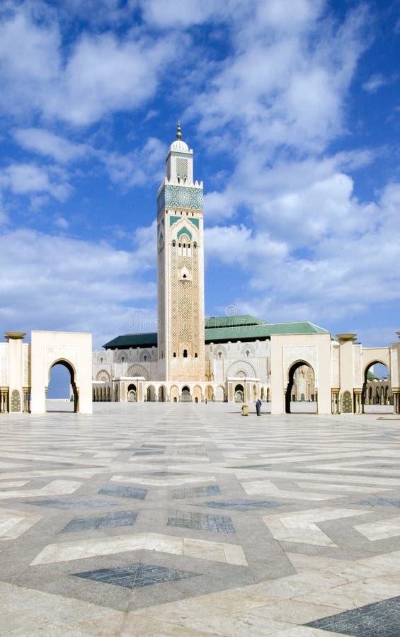 Berühmte Moschee in Casablanca stockbilder