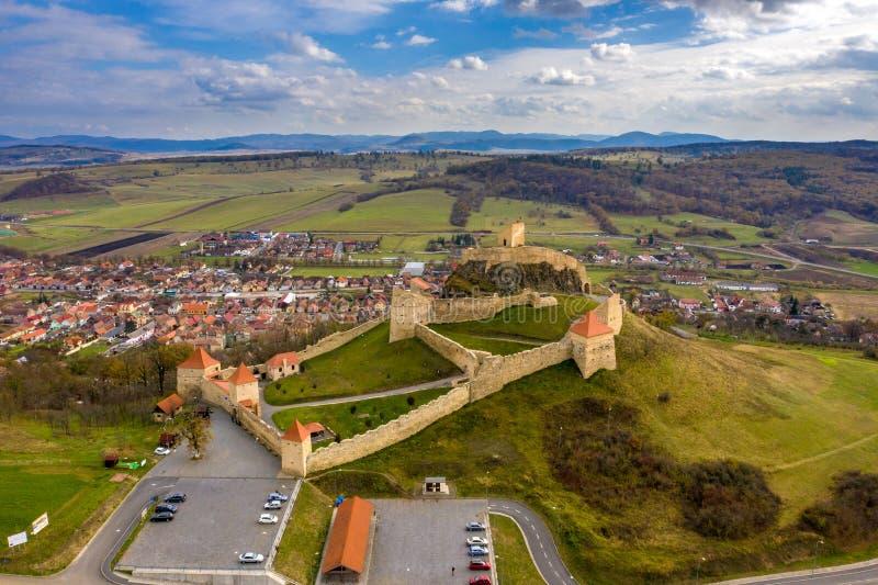 Berühmte Rupea-Festung in Siebenbürgen nahe Brasov und Sibiu, ROM lizenzfreie stockbilder