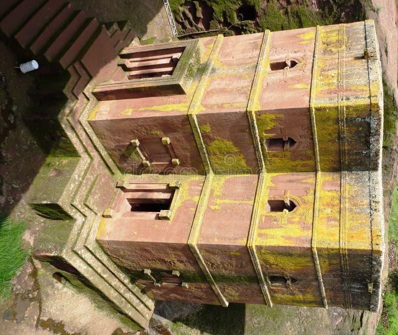 Berühmte schöne äthiopische Kirche lizenzfreie stockfotos