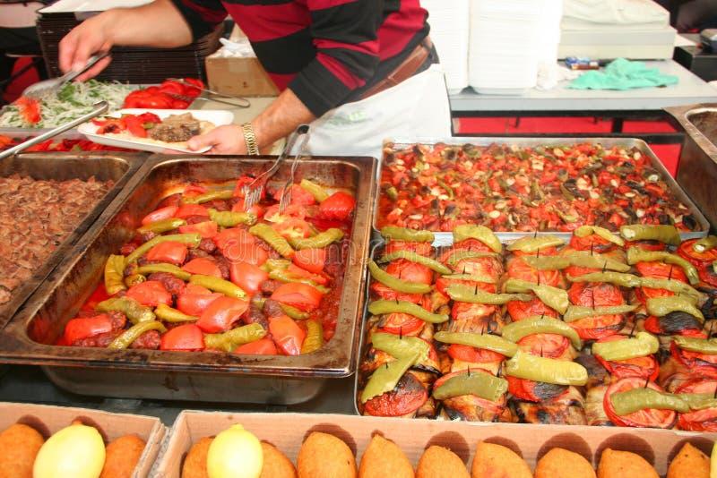 Berühmte türkische Mahlzeiten stockfotos