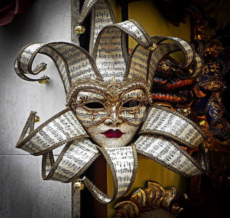 Berühmte traditionelle Dekoration von Venezia, Italien stockbild