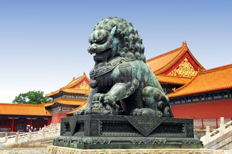 Berühmte verbotene Stadt in Peking, China stockfoto