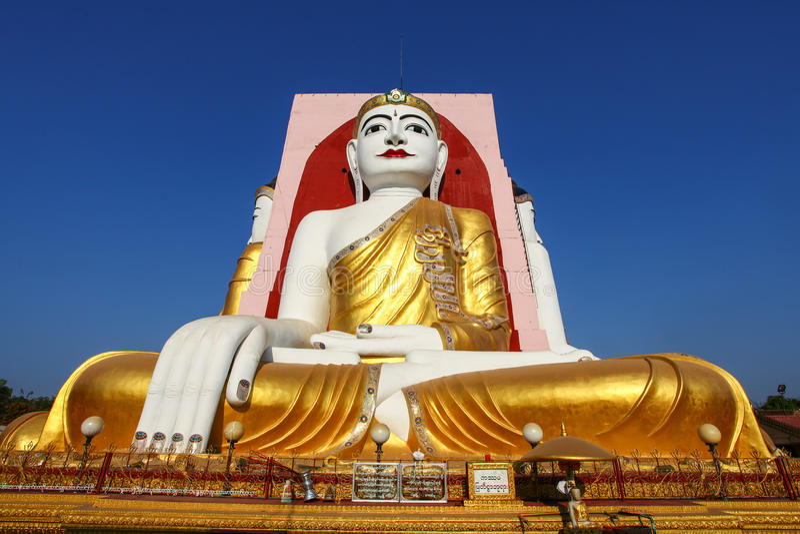 Berühmte vier Buddhas von Kyaikpun-Pagode, Bago, Myanmar, Asien lizenzfreie stockfotografie