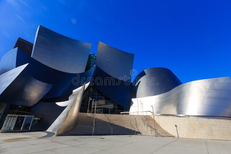 Berühmte Walt Disney Concert Hall stockbild