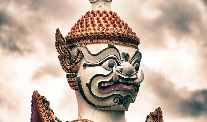 Berühmter Bangkok-Tempel, Achitectural-Detail stockfotos