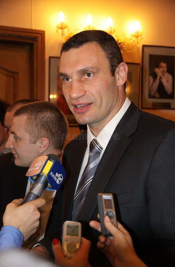 Berühmter Boxer Vitali Klitschko stockbild