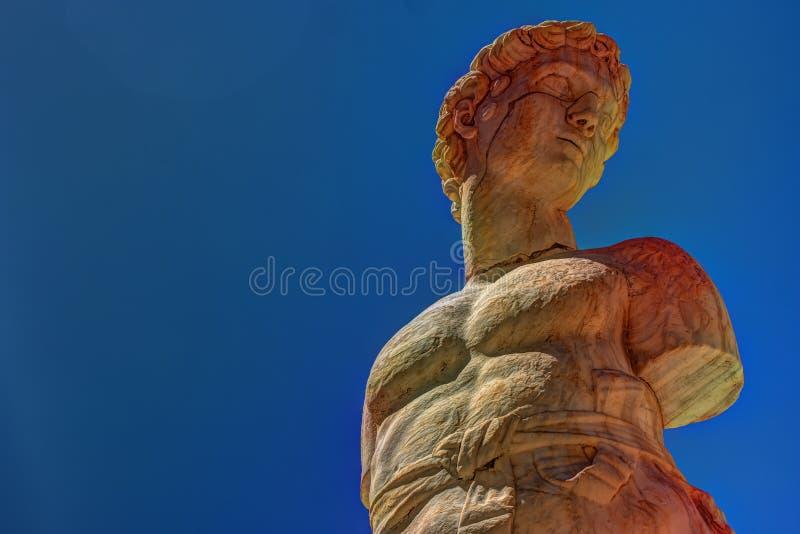 Berühmter Brunnen der Schande auf barockem Marktplatz Pretoria, Palermo, Sizilien lizenzfreie stockfotografie