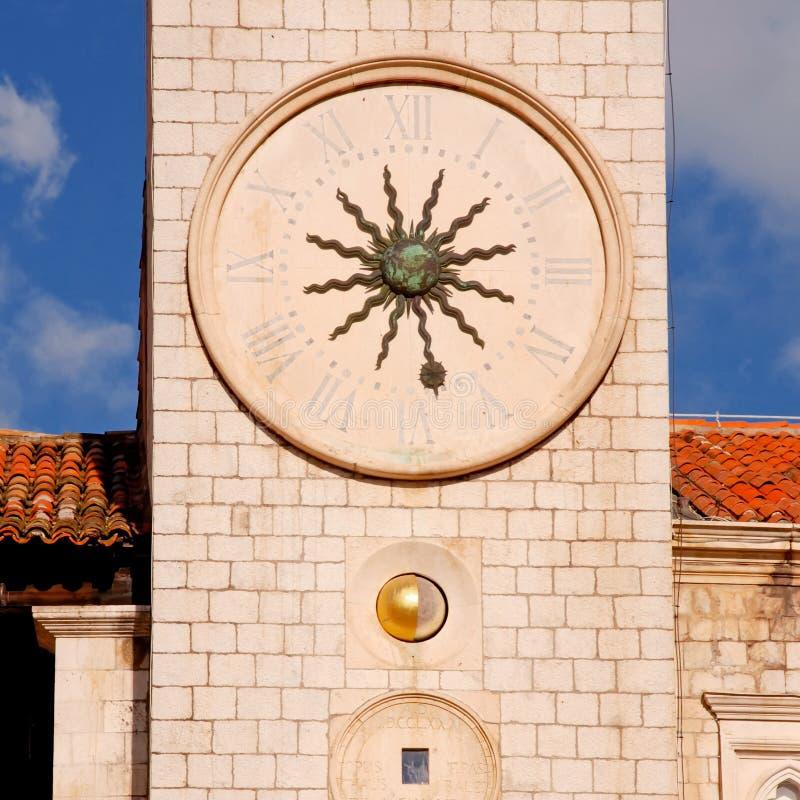 Berühmter Glockenturm von DubrovnikCroatia lizenzfreie stockbilder