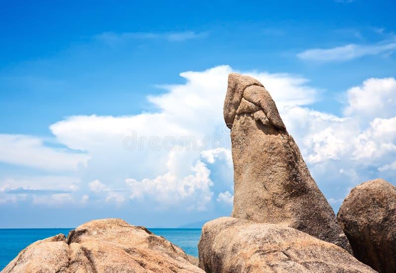 Berühmter großväterlicher Felsen. Koh Samui, Thailand lizenzfreie stockfotografie