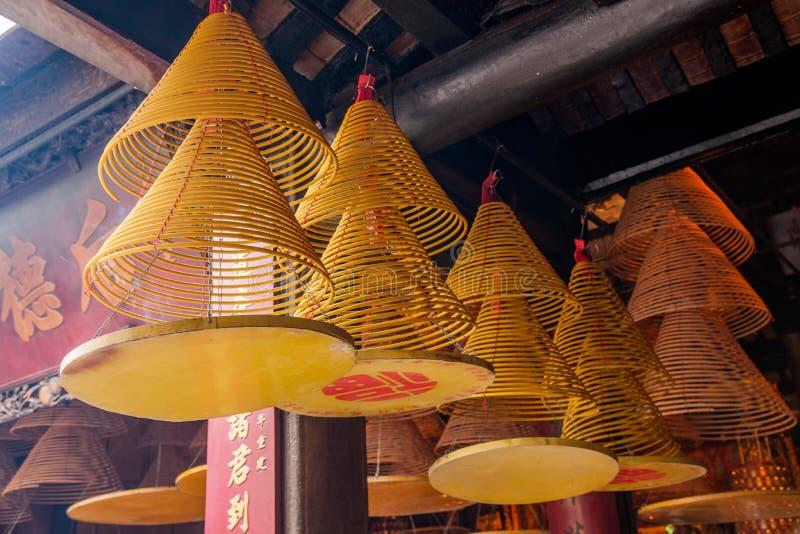 Berühmter historischer errichtender Matsu süßer Teller Macaos, der Feuer enthält stockfotos