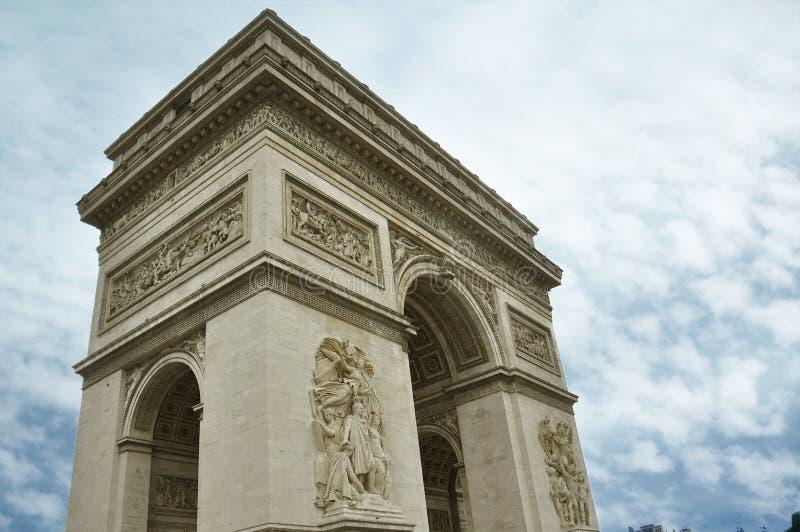 Berühmtes Arc de Triomphe in Paris-Stadt stockfoto