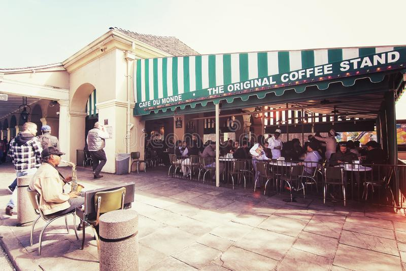 Berühmtes Cafégeschäft stockfotos