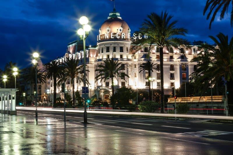 Berühmtes Hotel Negresco in Nizza, Frankreich stockbild