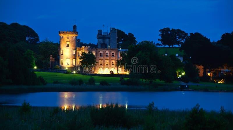 Berühmtes irisches Schlosshotel, Westküste Irland stockbilder