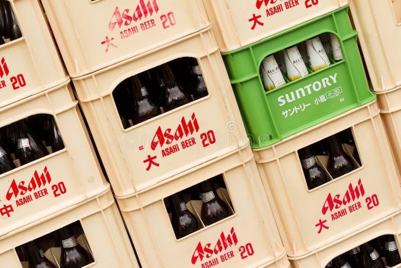 Berühmtes japanisches Bier lizenzfreies stockbild
