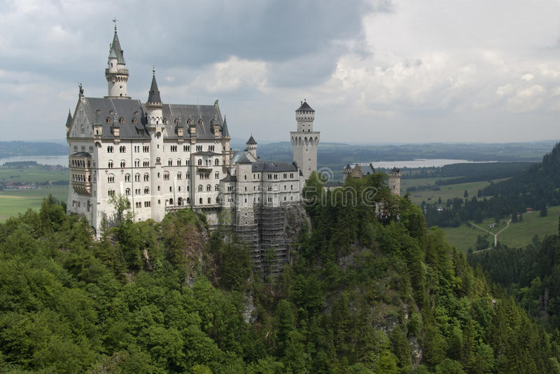 Berühmtes Neuschwanstein Schloss, Deutschland lizenzfreie stockbilder