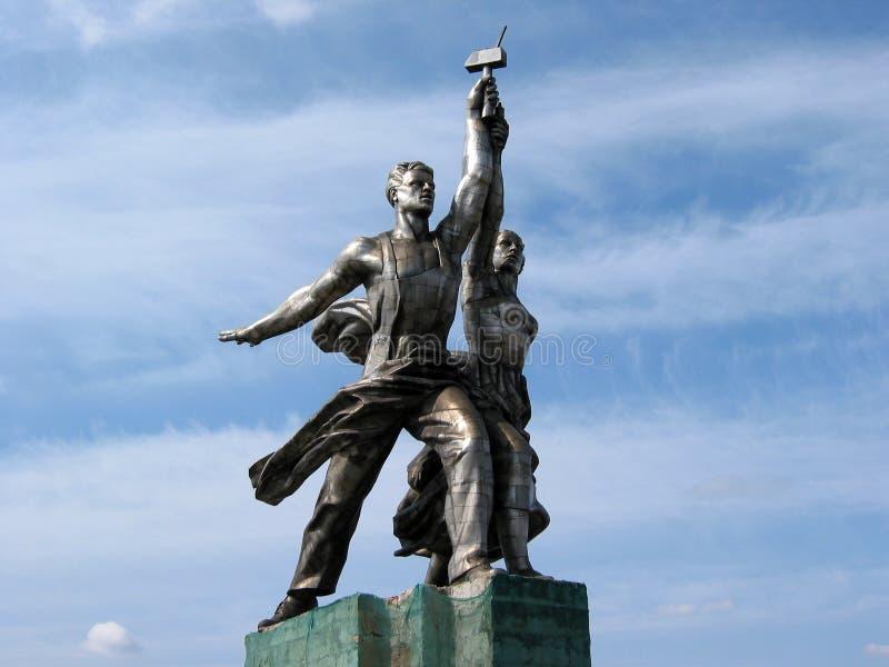 Berühmtes sowjetisches Denkmal lizenzfreies stockfoto
