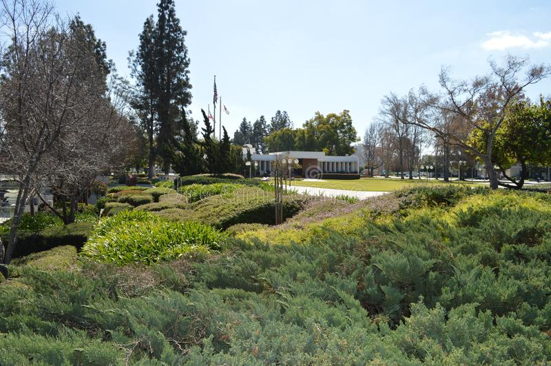 Berühmtes West-Behördenviertel Gardern Covina Kalifornien lizenzfreies stockfoto