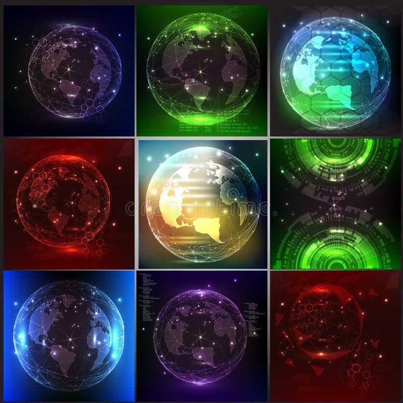 Berühren Sie die Zukunft, Vektorillustration einer Richtung des Wissenschaft und Technik vektor abbildung