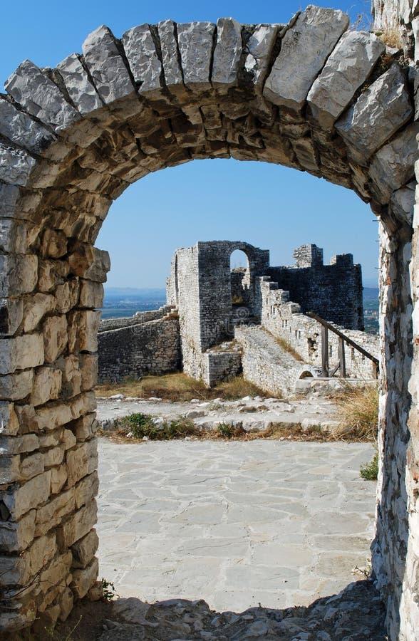 berat城堡详细资料 免版税库存图片