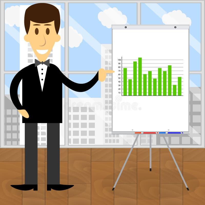 Beraterwirtschaftswissenschaftlervektor stock abbildung