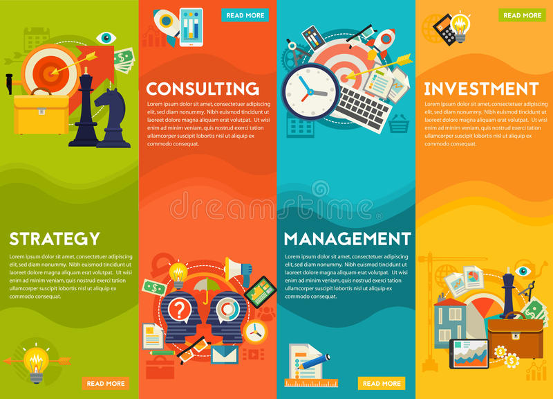 Beratungs-, Management-, Investitions-und Strategie-Konzept stock abbildung