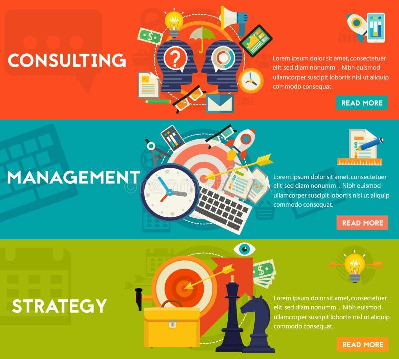 Beratungs-, Management-und Strategie-Konzept stock abbildung