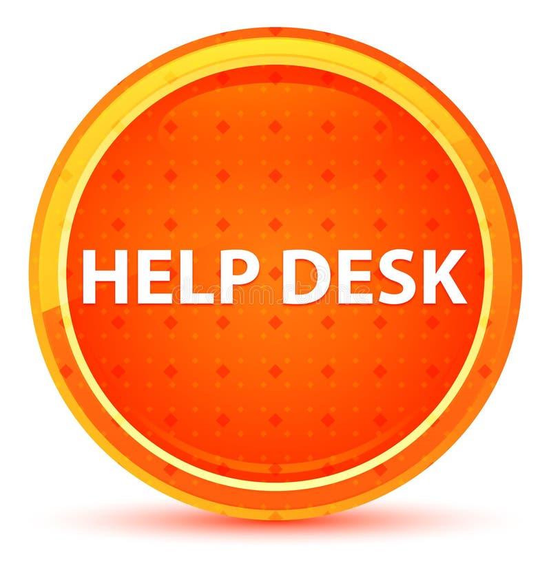 Beratungsstelle-natürlicher orange runder Knopf lizenzfreie abbildung