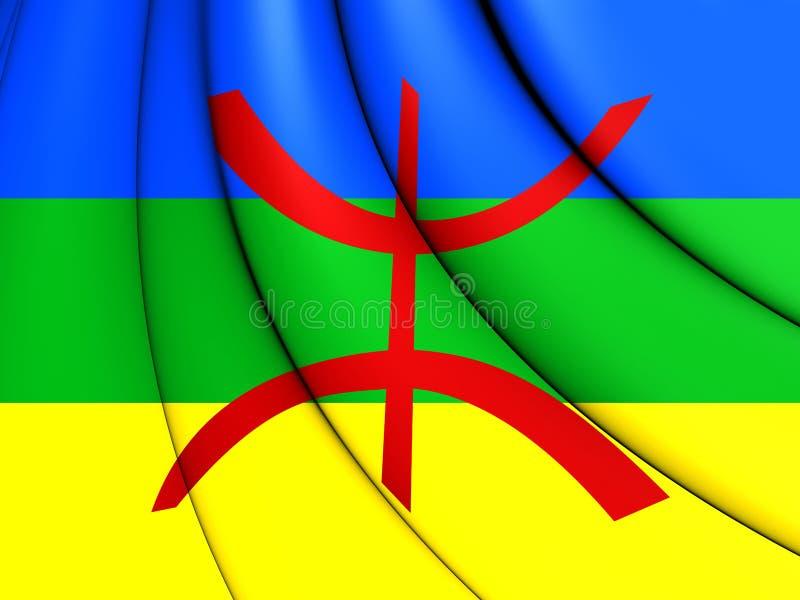 Berber flaga ilustracja wektor