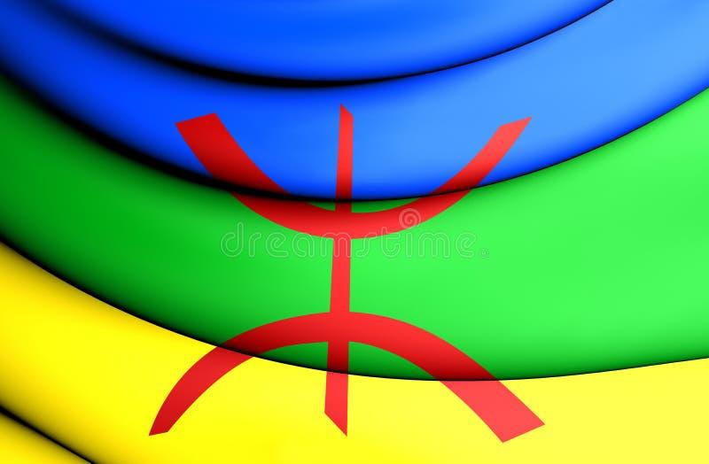 Berber flaga ilustracji