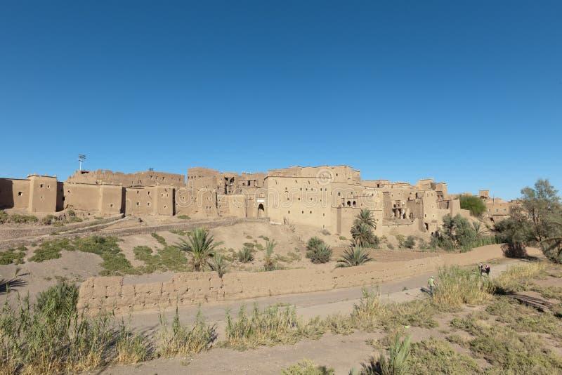 Berber Kasbah - Festung - in Quarzazate, Marokko lizenzfreie stockfotos