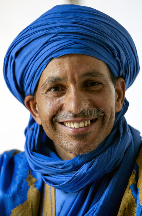 A Berber man in Rissani in Morocco. stock images