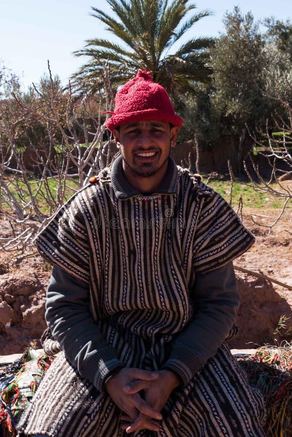 Berber Portrait in Morocco stock photo