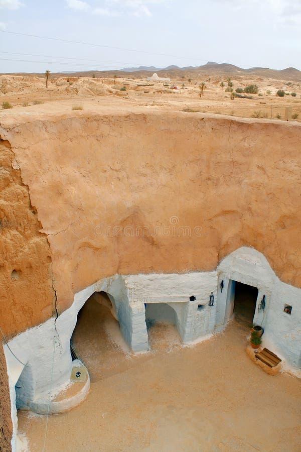 berber pustyni domu Sahara troglodyta obraz stock