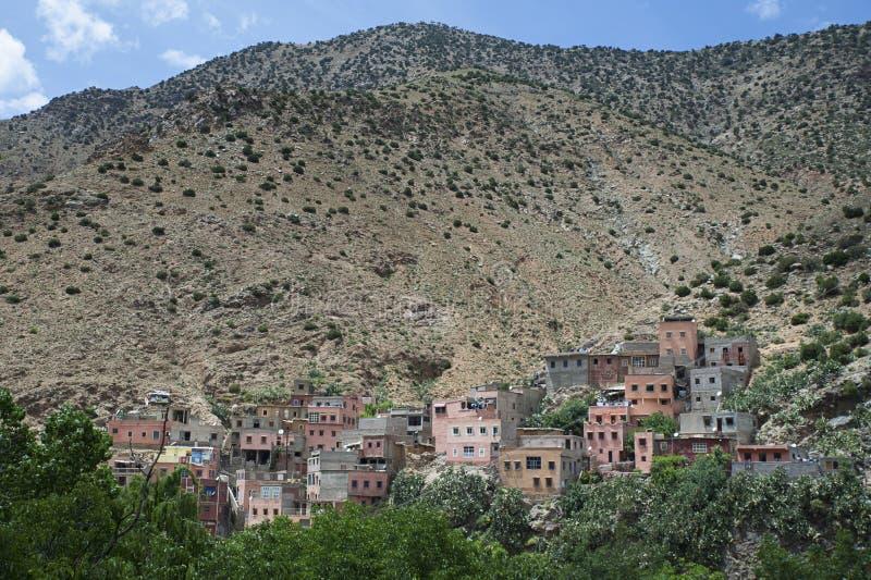 Berber wioska Setti Fatma, atlant góry, Maroko obrazy royalty free