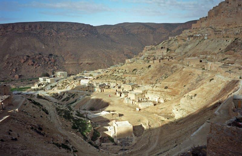 Berberdorp, Chenini, Tunesië royalty-vrije stock foto