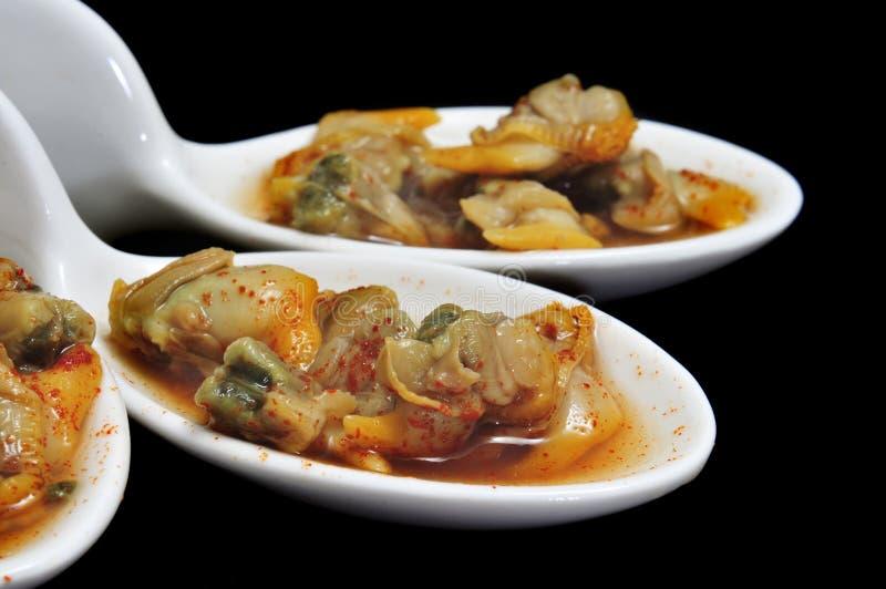 Berberechos, cardi spagnoli, serviti da aperitivo fotografia stock