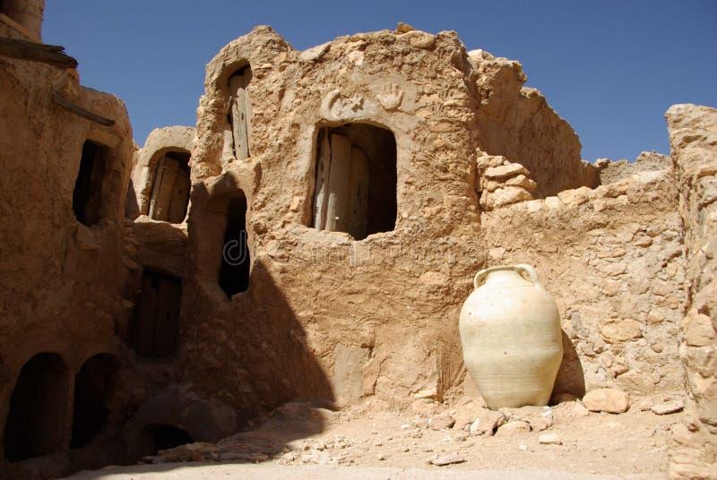 Berbergetreidespeicher, Libyen lizenzfreies stockbild