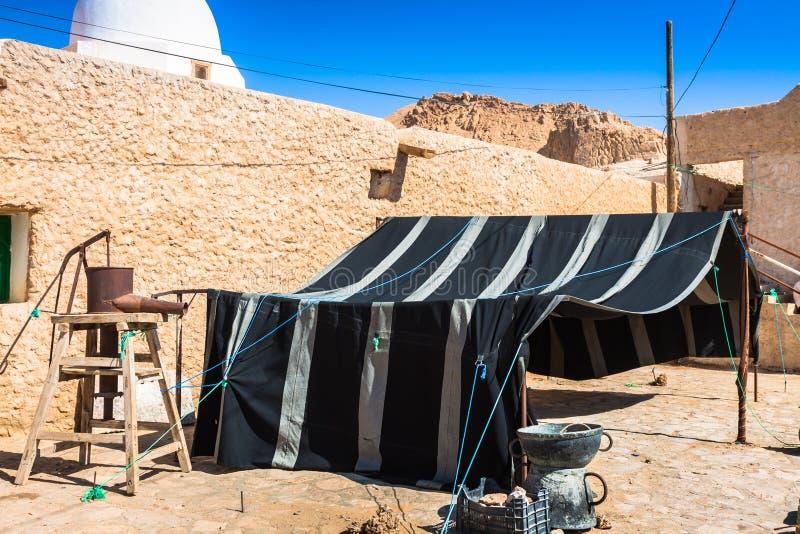 Berberhuis in Chebika, Tunesië stock foto