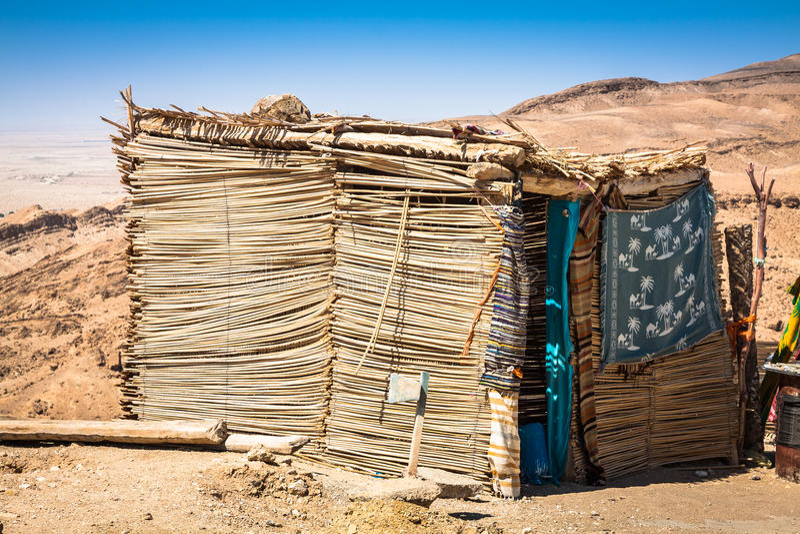 Berberhuis in Chebika, Tunesië stock foto's