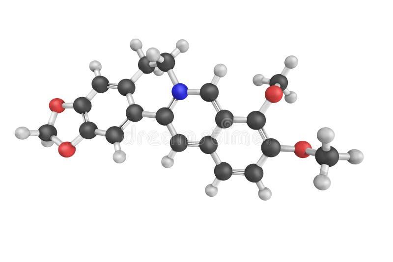 Berberine, een quaternair ammoniumzout van protoberberine gr. royalty-vrije stock foto's