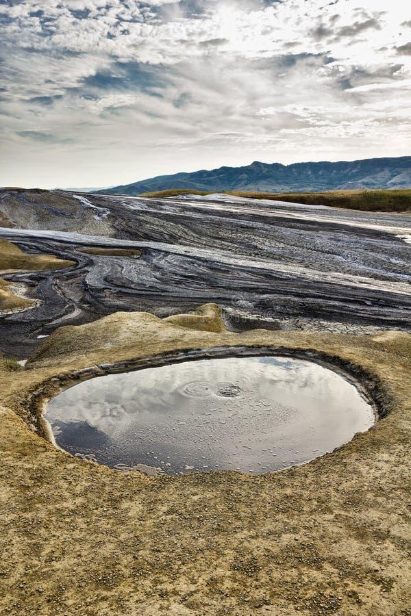 Berca Buzau, ηφαίστεια λάσπης στοκ εικόνες