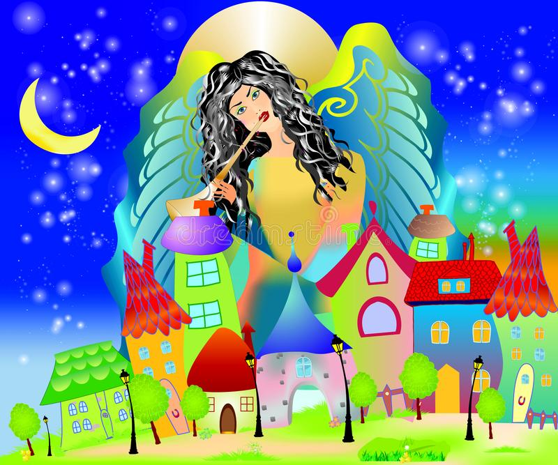 Berceuse d'ange illustration stock