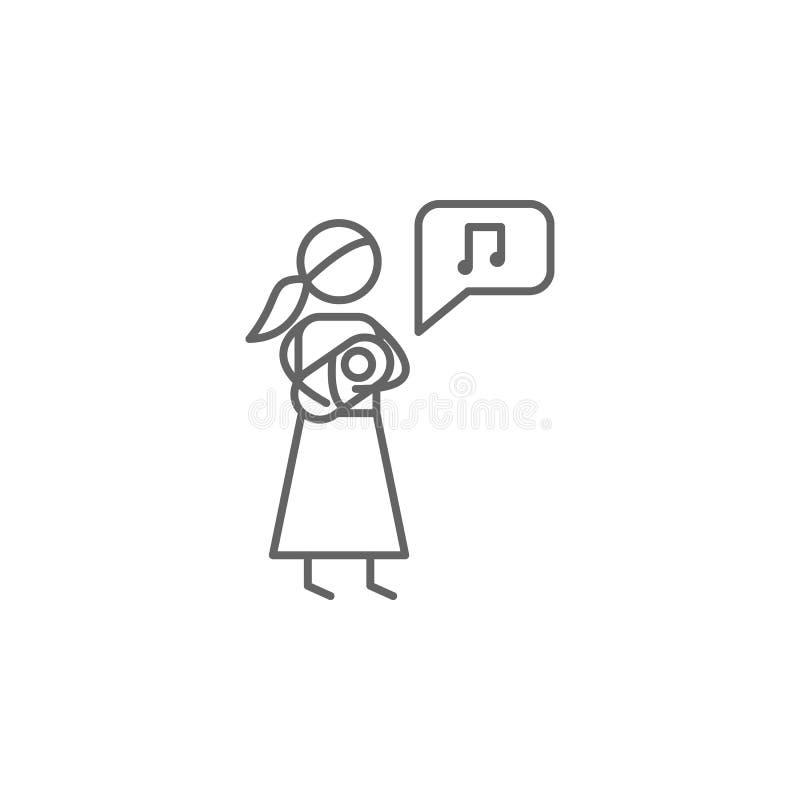 Berceuse, icône de maternité r Ligne mince ic?ne pour la conception de site Web et le d?veloppement, d?veloppement d'APP premium illustration stock