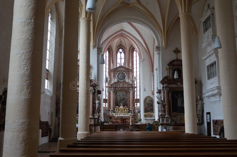 Berchtesgaden church indoor view, Germany. royalty free stock photo