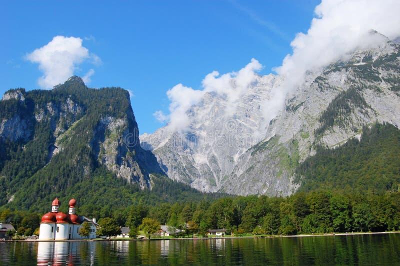 berchtesgaden den germany koenigsseen nära royaltyfri foto