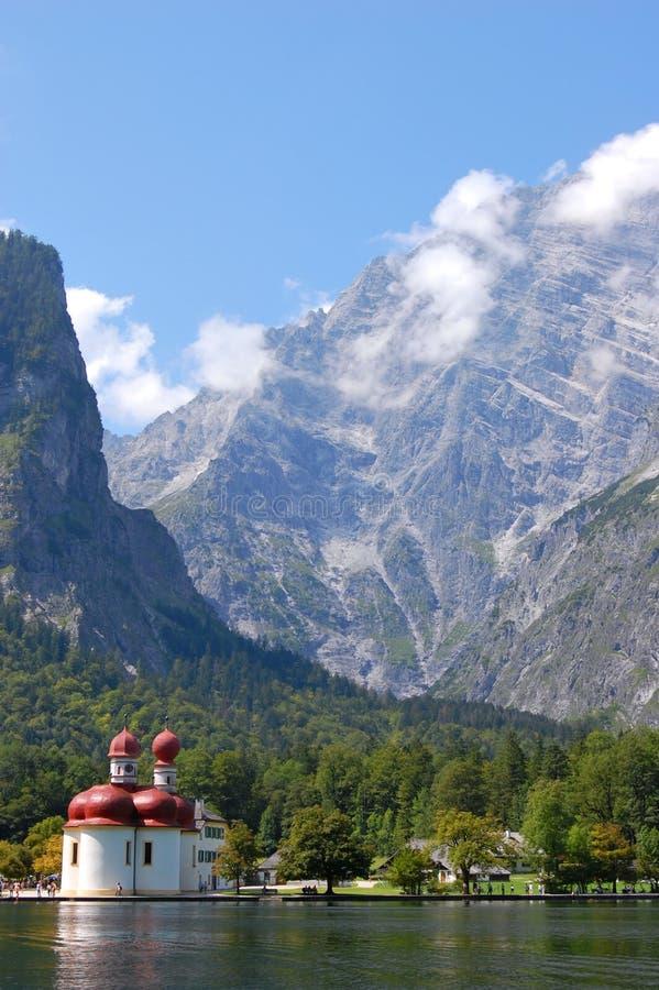 berchtesgaden den germany koenigsseen nära fotografering för bildbyråer