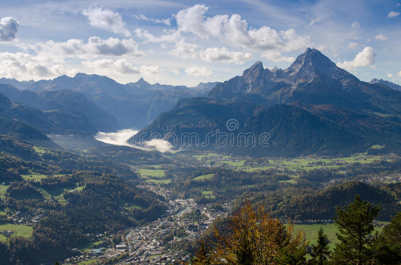 Berchtesgaden et Watzmann photos stock