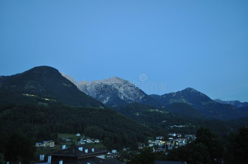 Night landscape, Berchetesgaden, Germany royalty free stock images
